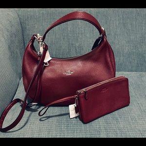 Authentic Coach purse and wristlet